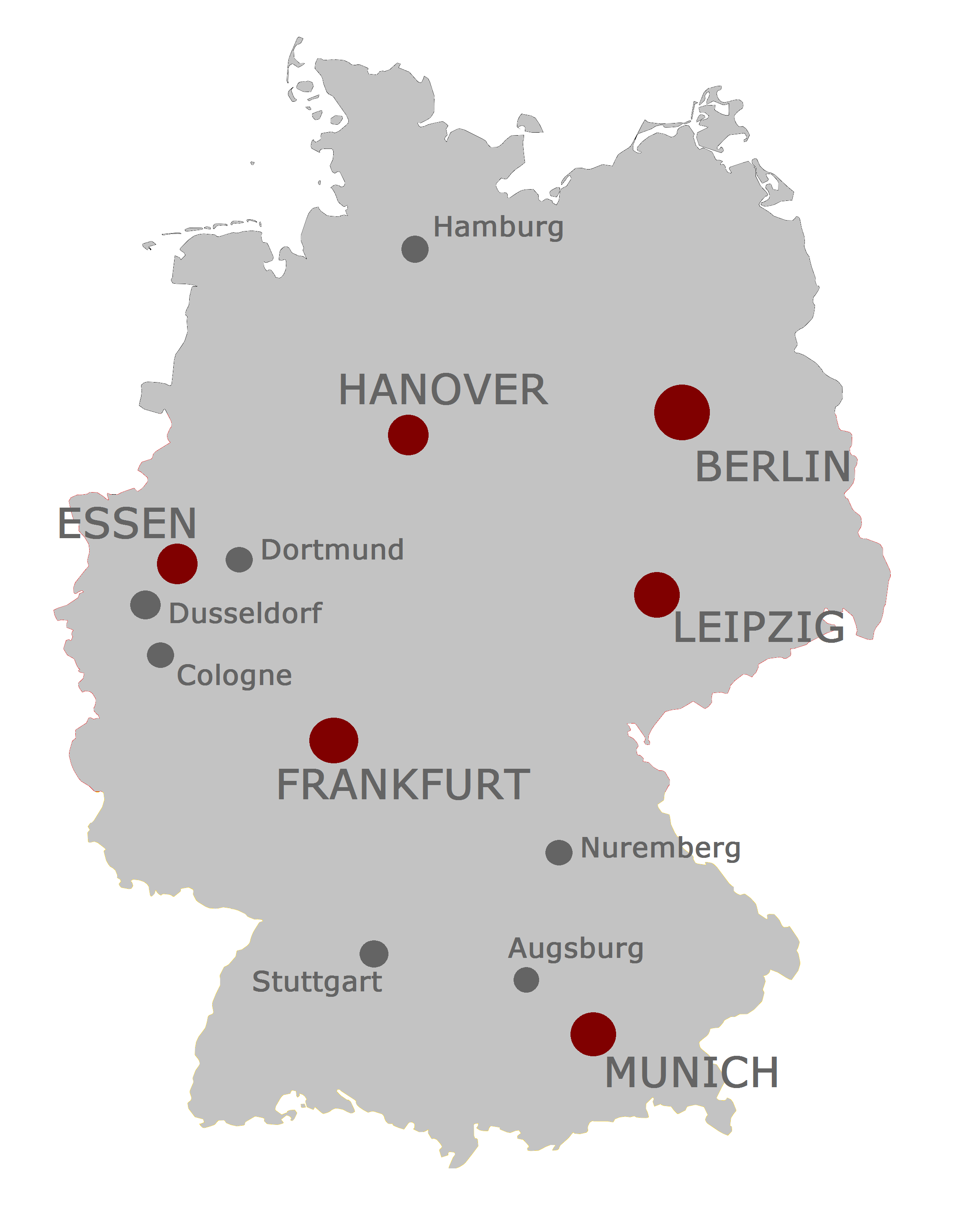 Show Map Of Germany Major ...